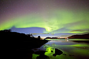 Winter Night Prints - Auroras over the sky Print by Frank Olsen