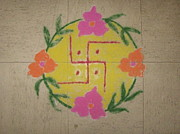 Lord Pastels - Auspicious Rangoli by Sonali Gangane