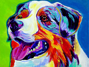 Dog Print Prints - Aussie Print by Alicia VanNoy Call