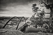 Steel Bridge In Texas Prints - Austin 360 Bridge in Early Dawn Print by Lisa  Spencer