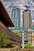 Austin Landmarks Posters - Austin Condo Towers - HDR Poster by David Thompson
