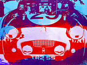 Racetrack Digital Art Posters - Austin Healey bugeye Poster by Irina  March