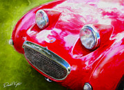 Austin Digital Art Posters - Austin Healey Bugeye Sprite Poster by David Kyte