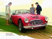 Rg Mcmahon Framed Prints - Austin Healey Framed Print by RG McMahon