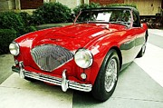 Austin Digital Art Posters - Austin Healy Poster by Cathie Tyler