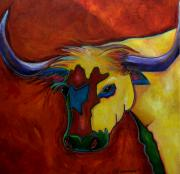 Ut Prints - Austin Longhorn Print by Patti Schermerhorn
