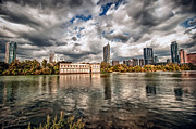 Austin Skyline On Lady Bird Lake Print by John Maffei