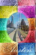 Austin Digital Art Posters - Austin Texas in Vivid Color Poster by Jennifer Holcombe