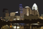 Austin Skyline Digital Art - Austin Variation 1 by John Gusky