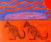 Kangaroos Paintings - Australia by Patrick J Murphy