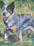 Heeler Paintings - Australian Cattle Dog 1 by Lee Ann Shepard