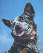 Heeler Paintings - Australian Cattle Dog 2 by Lee Ann Shepard
