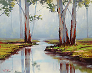 Plein Air Metal Prints - Australian Gum trees Metal Print by Graham Gercken
