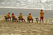 Noel Elliot Art - Australian Lifeguards by Noel Elliot
