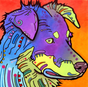 Pop  Paintings - Australian Shepherd IV by Dean Russo