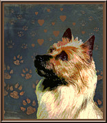 Australian Terrier Print by One Rude Dawg Orcutt