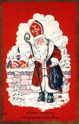 Santa Claus Prints - Austrian Christmas Card Print by Granger