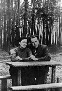 Controversial Photos - Author Alexander Solzhenitsyn And Wife by Everett