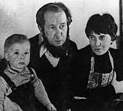 Featured Acrylic Prints - Author Alexander Solzhenitsyn With Wife Acrylic Print by Everett
