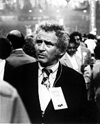 Author Prints - Author Norman Mailer At A Political Print by Everett