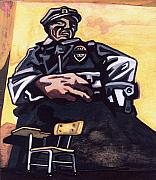Police Art Paintings - Authority Figure by Karl Frey