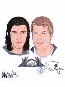 Autographed Paintings - Autographed 3OH3 by Michael Dijamco