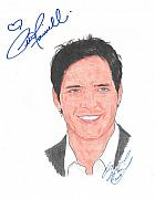 Eclipse Drawings - Autographed Peter Facinelli by Michael Dijamco