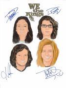 Alternative Rock Group Drawings - Autographed WE THE KINGS by Michael Dijamco