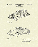 Antique Drawings - Automobile McCelland Barclay 1932 Patent Art by Prior Art Design