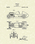 Antique Drawing Posters - Automobile Miller 1920 Patent Art Poster by Prior Art Design