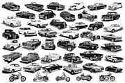 Street Drawings - Automotive Pen And Ink Poster by Jack Pumphrey