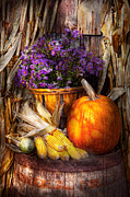 Autumn Scenes Metal Prints - Autumn - Autumn is festive  Metal Print by Mike Savad