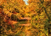 Impressionistic Photos - Autumn - Bridge - Natures Finest by Mike Savad