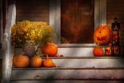 Autumn Scene Art - Autumn - Halloween - Were all happy to see you by Mike Savad