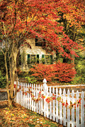 Autumn - House - Festive  Print by Mike Savad