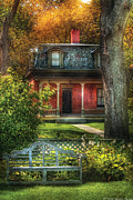 Autumn - House - The Estates Print by Mike Savad