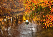 Autumn Scene Framed Prints - Autumn - Landscape - Exploring the unknown  Framed Print by Mike Savad