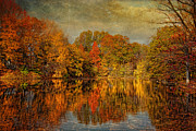 Halloween Scene Posters - Autumn - Landscape - Tamaques Park - Autumn in Westfield NJ  Poster by Mike Savad