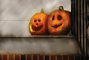 Carving Art - Autumn - Pumpkins - Two goofy pumpkins by Mike Savad