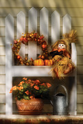 Scarecrow Posters - Autumn - Still Life - Symbols of Autumn  Poster by Mike Savad