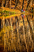 Jogging Metal Prints - Autumn - 2 Metal Print by Okan YILMAZ