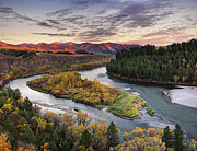 Leland Howard Prints - Autumn along the Snake River Print by Leland Howard
