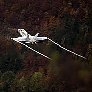 F-18 Posters - Autumn Poster by Angel  Tarantella