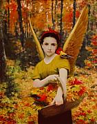 Angel Digital Art - Autumn Angels by Stephen Lucas