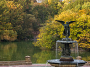 Bethesda Terrace Prints - Autumn at Bethesda Print by Cornelis Verwaal