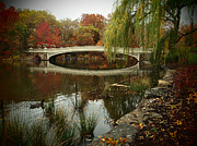 Central Park Photos - Autumn at Bow Bridge by Cornelis Verwaal