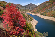 Canyon Lake Prints - Autumn at Causey Reservoir - Utah Print by Gary Whitton