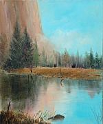Yosemite Paintings - Autumn at El Capitan by Sally Seago