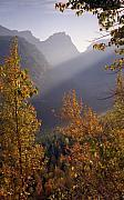Richard Rizzo Framed Prints - Autumn at Logan Pass Framed Print by Richard Rizzo
