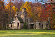 North Chagrin Reservation Framed Prints - Autumn at Squires Castle 1 Framed Print by At Lands End Photography
